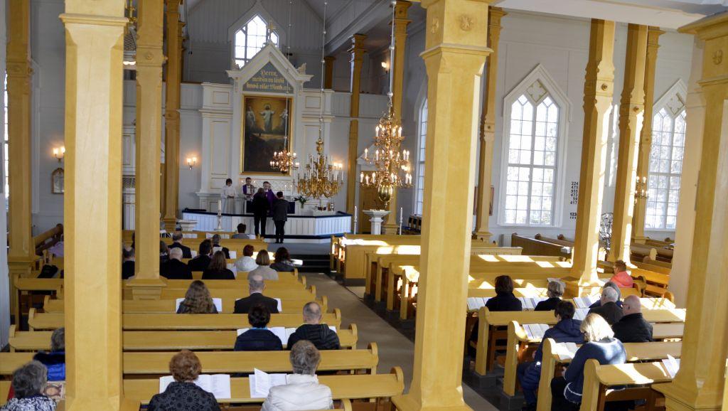 Haapajärven kirkosta 17.3.2019, kuva: Harriet Urponen