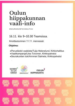 Oulun hiippakunnan vaali-info tiedote